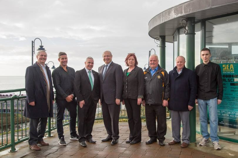 His Excellency Jean-Pierre Thébault meets the Douzelage Bundoran team with some business owners from Bundoran. Pic Conor Conlon