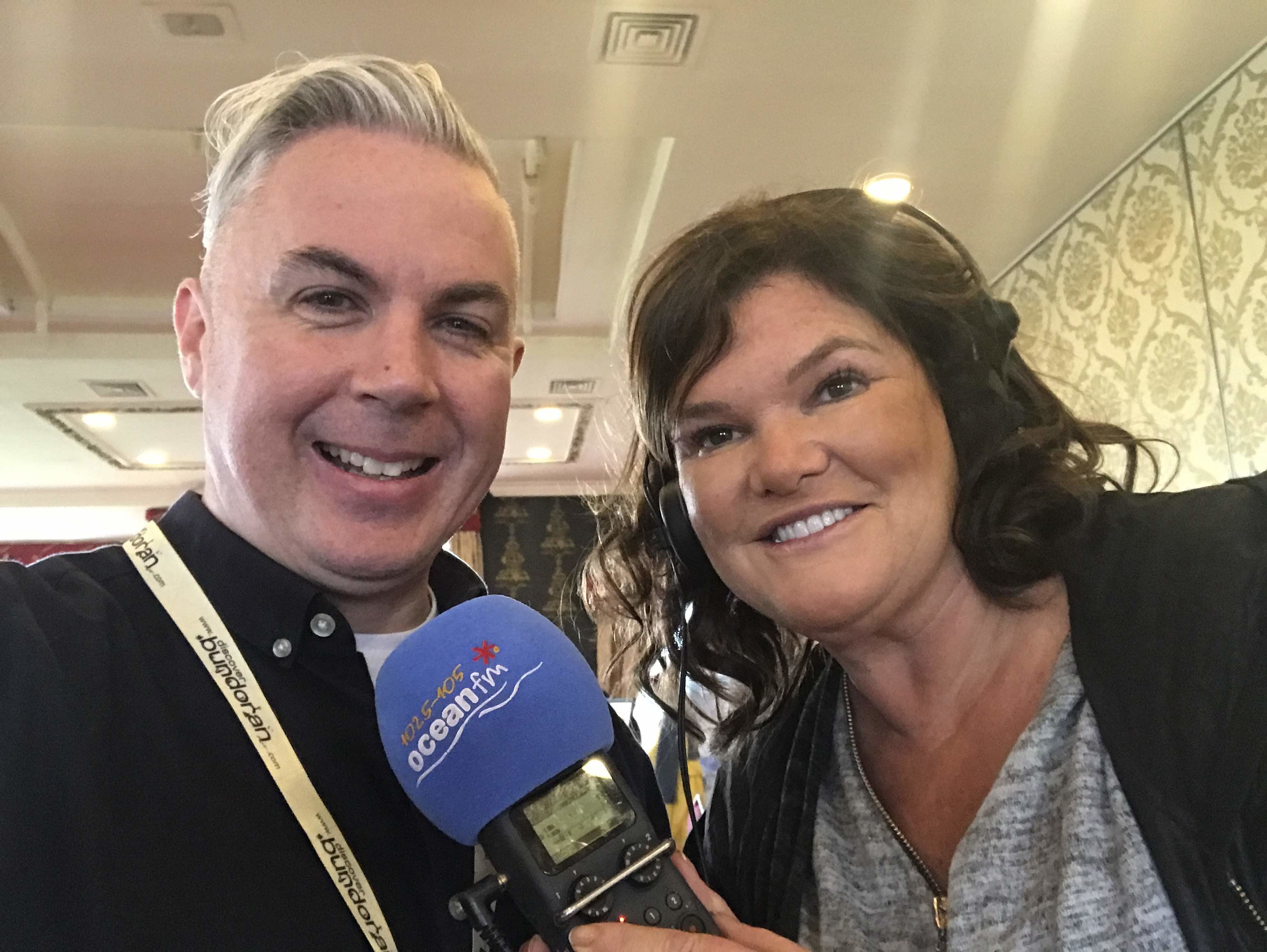 Shane Smyth pictured with Ocean FM's Claire Ronan