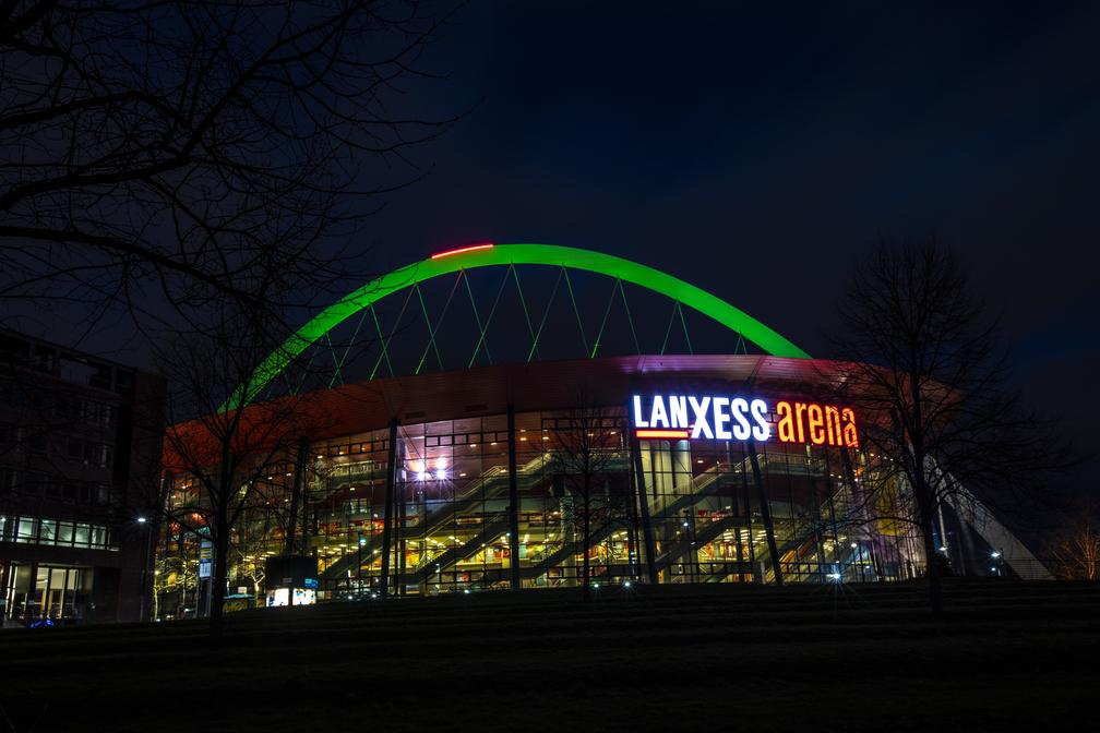Lanxess Arena St. Patrick´s Day Koeln Deutschland Greening Copyright Eduard Bopp Sportfotografie Cologne