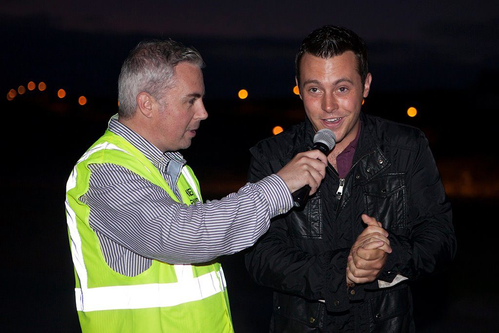 One of our big events during 2014 was the fireworks display. Shane Smyth chats with Nathan Carter kindly came along to press the button and launch the display on the night.