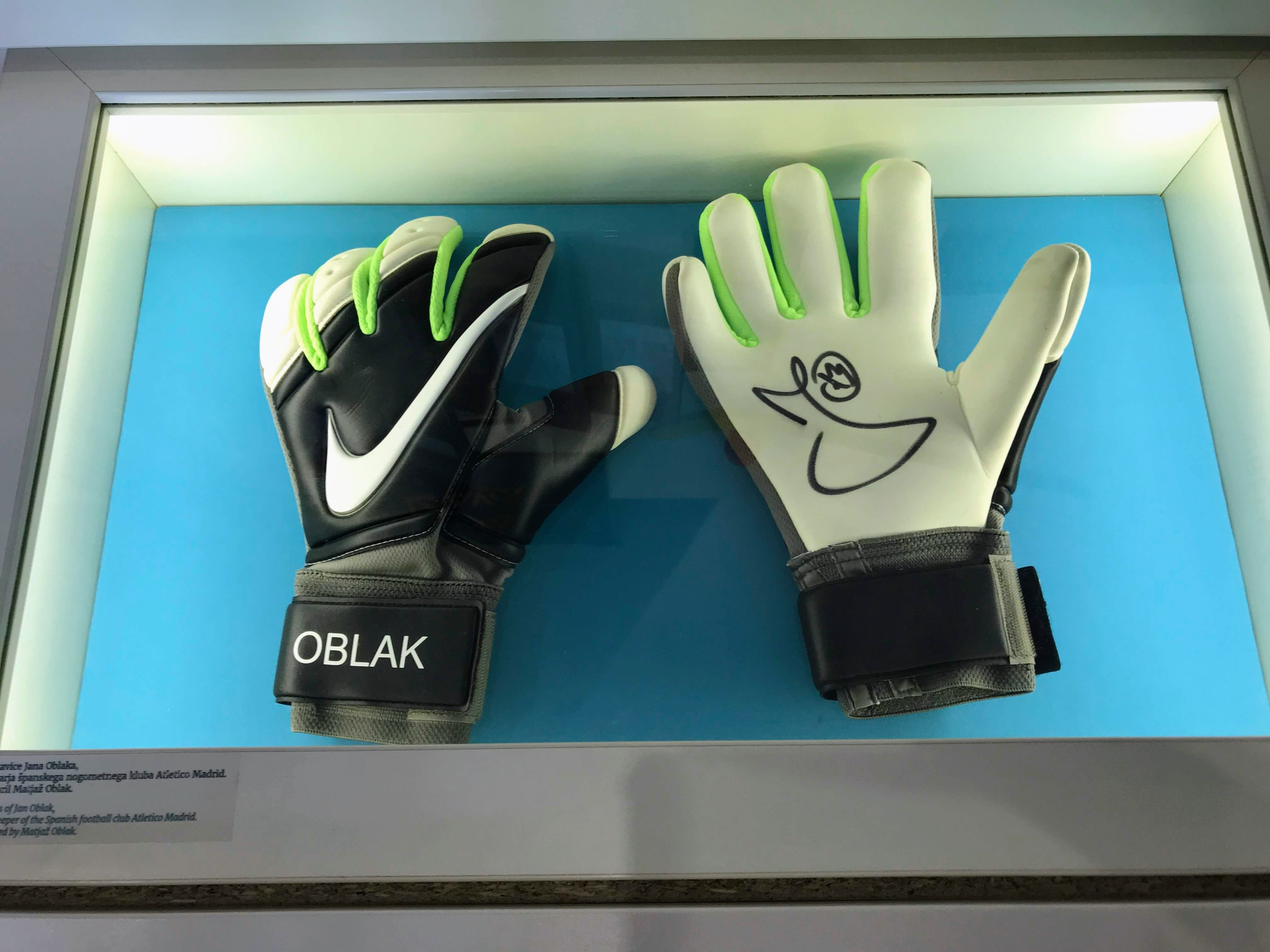 Picture shows the gloves of Atlético Madrid goalkeeper Jan Oblak from Škofja Loka the real heart of Slovenia
