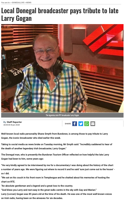 Tribute to Larry Gogan