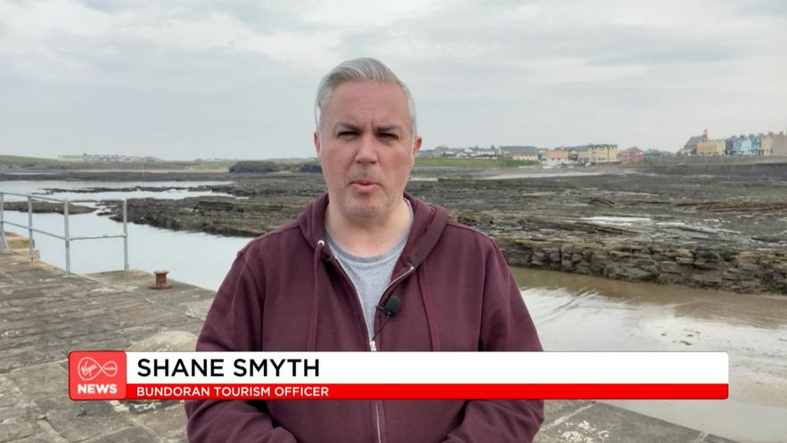 Shane Smyth appearing on Virgin Media News on Good Friday 2020