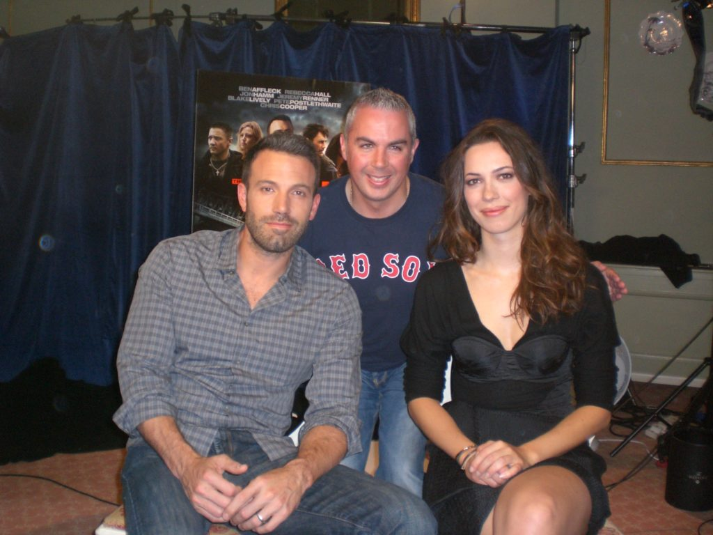 "Shane Smyth with Ben Affleck and Rebecca Hall talking about their movie ""The Town"""